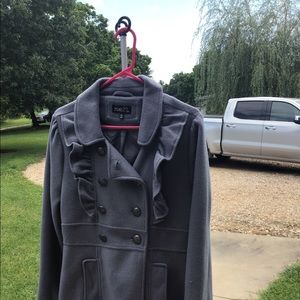 Juniors size Large P-coat style gray